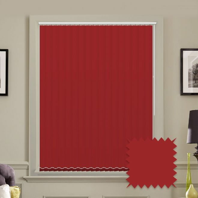 Unicolour Morello 5 inch Vertical Blinds - made to measure - Just Blinds